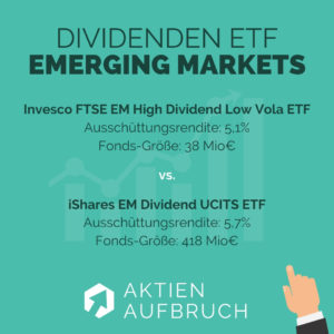 Dividenden ETFs 2020 Emerging Markets