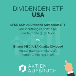 Dividenden ETFs 2020 USA