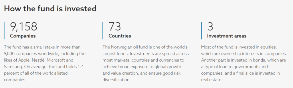 norwegischer Staatsfonds Investments Feb20