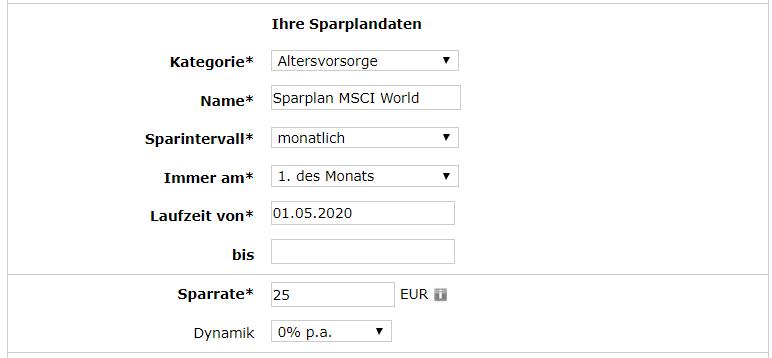 Consorsbank ETF Sparplan 5 Details