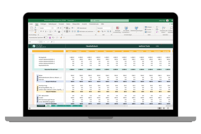 Haushaltsbuch Laptop Excel
